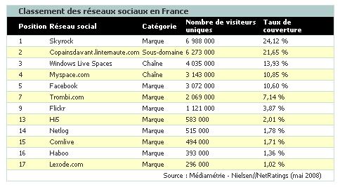 38 % des internautes français consultent des réseaux sociaux