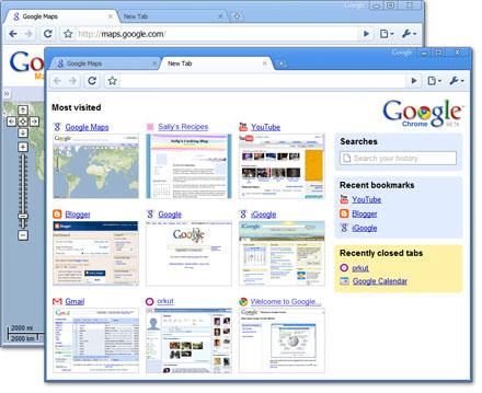 Google crâne avec Chrome